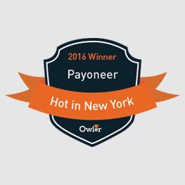 Payoneer派安盈荣获 Owler 发布的 Hot in New York 大奖